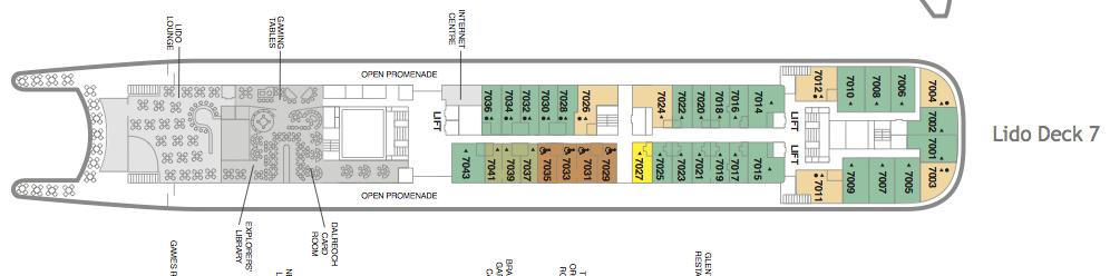 Fred. Olsen - Black Watch deck plans: Lido Deck 7