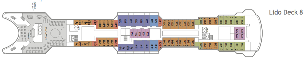 Fred. Olsen - Balmoral deck plans: Lido Deck 8