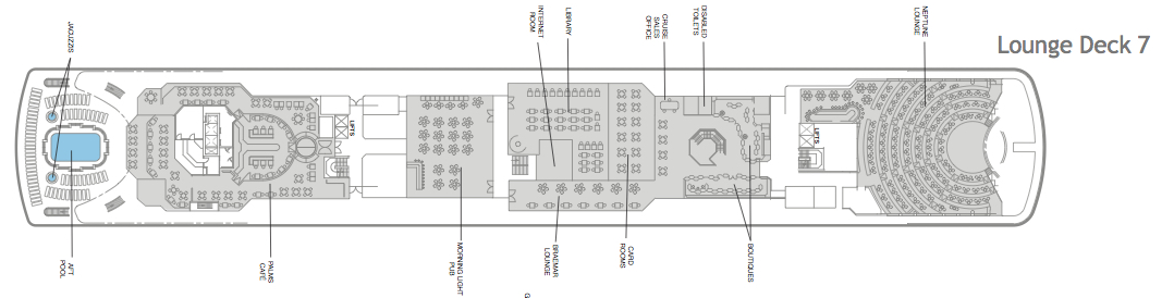 Fred. Olsen - Balmoral deck plans: Lounge Deck 7