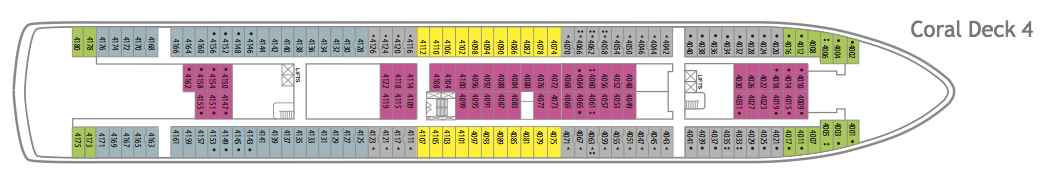 Fred. Olsen - Balmoral deck plans: Coral Deck 4