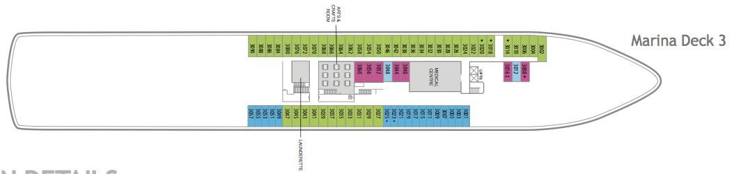 Fred. Olsen - Balmoral deck plans: Marina Deck 3