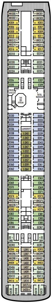 Holland America Line - MS Maasdam deck plans - Deck 6 (Lower Promenade Deck)