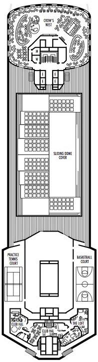 Holland America Line - MS Maasdam deck plans - Deck 12 (Sports Deck)