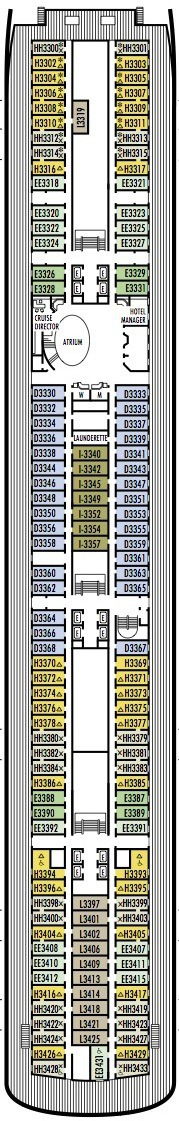 Holland America Line - MS Rotterdam deck plans - Deck 3 (Lower Promenade Deck)
