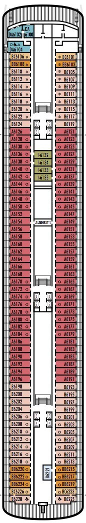Holland America Line - MS Rotterdam deck plans - Deck 6 (Verandah Deck)