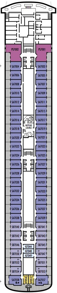 Holland America Line - MS Rotterdam deck plans - Deck 7 (Navigation Deck)