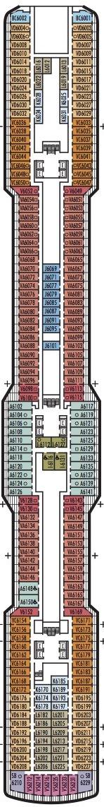 Holland America Line - MS Koningsdam deck plans - Deck 6