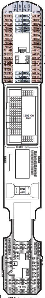 Holland America Line - MS Koningsdam deck plans - Deck 11