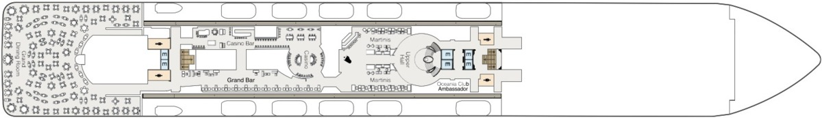 Oceania Cruises O-Class deck plans - Deck 6
