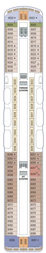 Azamara Club Cruises Journey & Quest deck plans - Deck 6