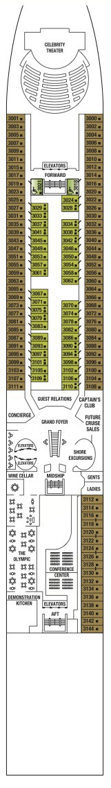 Celebrity Cruises Millennium Class deck plans - Deck 3