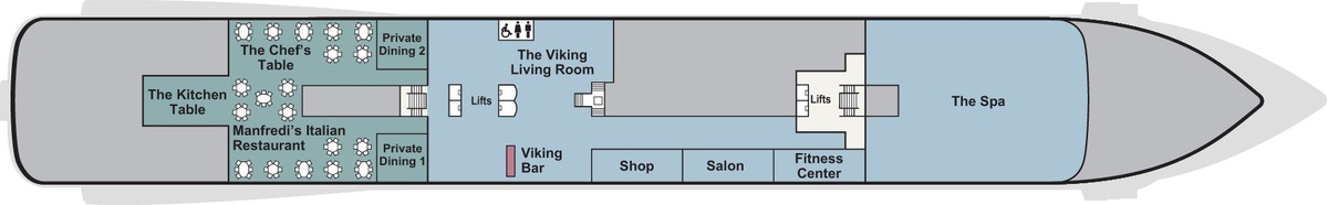 Viking Star, Sky & Sea deck plans - Deck 1