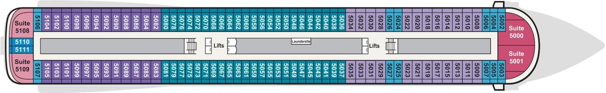 Viking Star, Sky & Sea deck plans - Deck 5