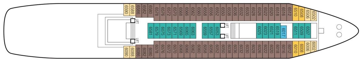 Saga Sapphire deck plans - Deck 6