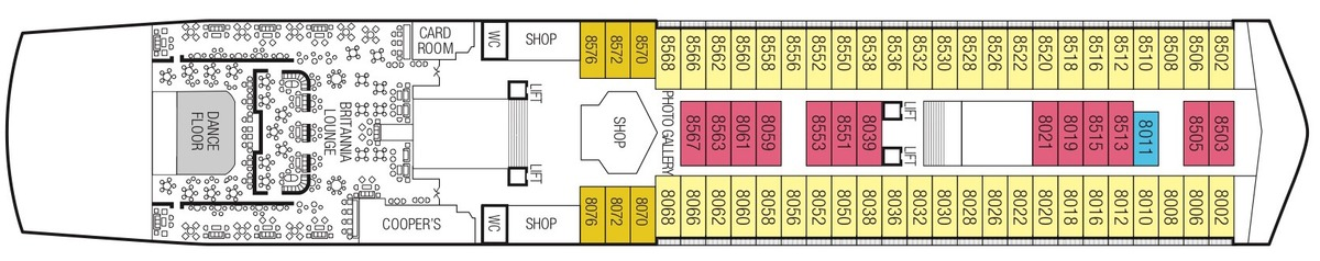 Saga Sapphire deck plans - Deck 8