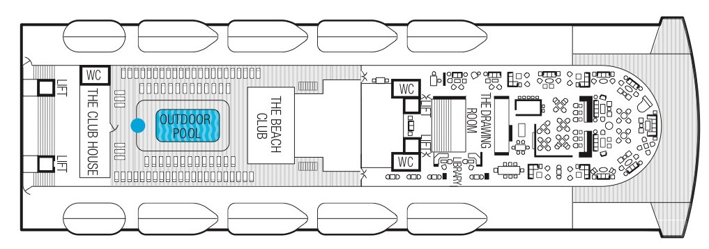 Saga Sapphire deck plans - Deck 11