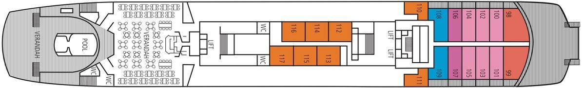 Saga Pearl II deck plans - Boat Deck