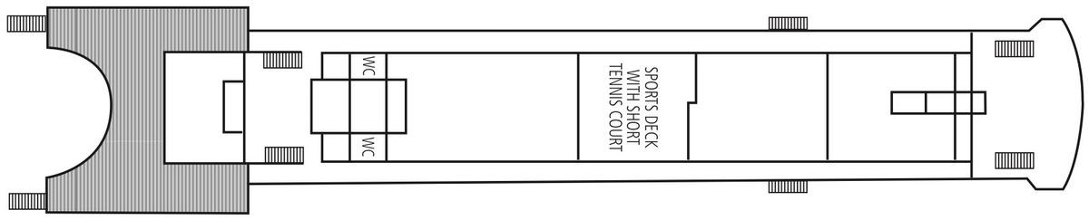 Saga Pearl II deck plans - Sun Deck