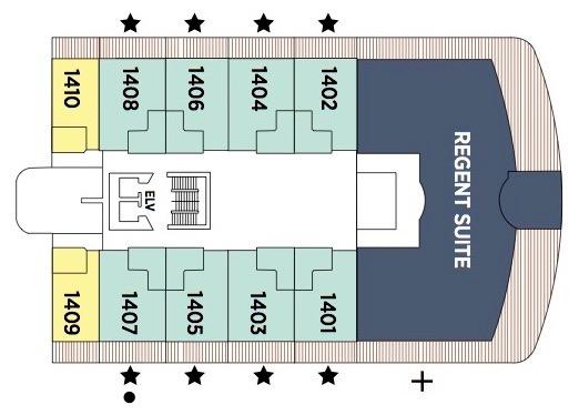 Regent Seven Seas Splendor - Deck Plans - Deck 14