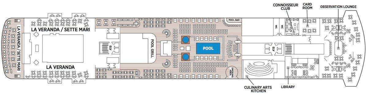 Regent Seven Seas Splendor - Deck Plans - Deck 11