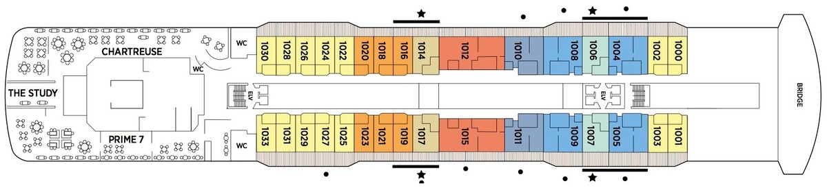 Regent Seven Seas Splendor - Deck Plans - Deck 10