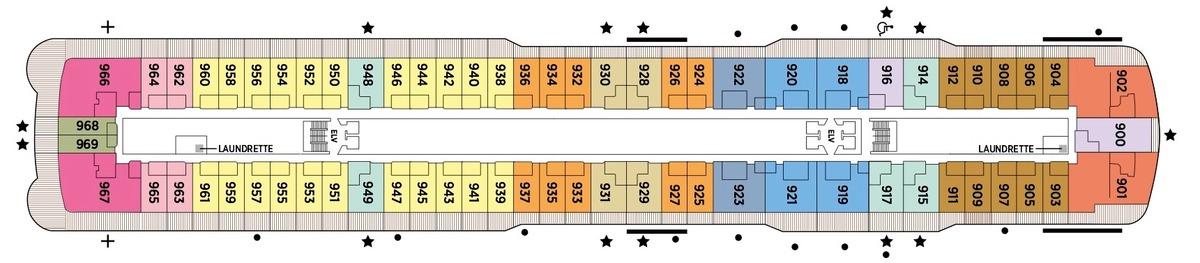 Regent Seven Seas Splendor - Deck Plans - Deck 9
