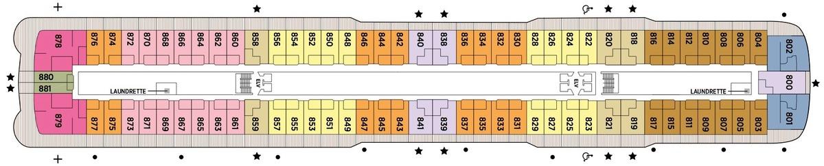 Regent Seven Seas Splendor - Deck Plans - Deck 8