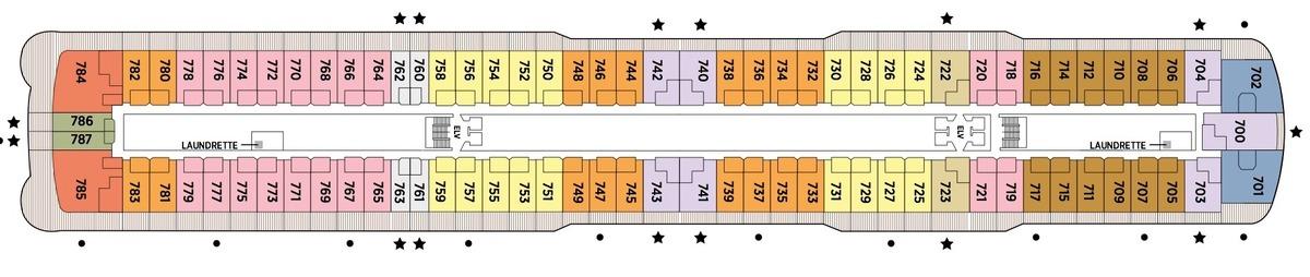 Regent Seven Seas Splendor - Deck Plans - Deck 7