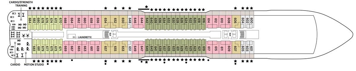 Regent Seven Seas Splendor - Deck Plans - Deck 6