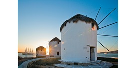 Wind Star in Mykonos, one of the best small ship Greek island cruises