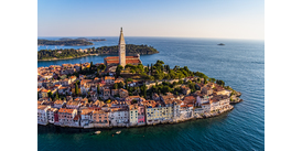 Rovinj, Croatia, one of the best small cruise ports in the Mediterranean