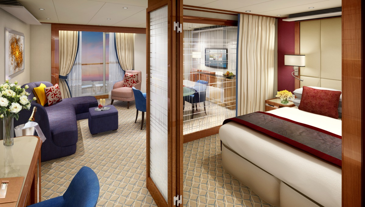 Seabourn Encore Penthouse Suite rendering