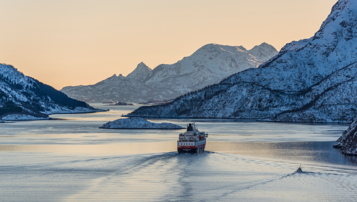 Hurtigruten cruise ship in Norway