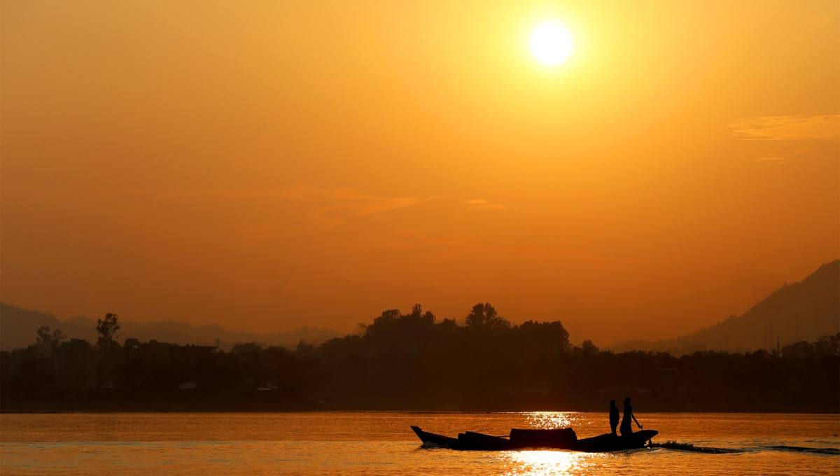 Sunset over Kaptai Lake, Bangladesh