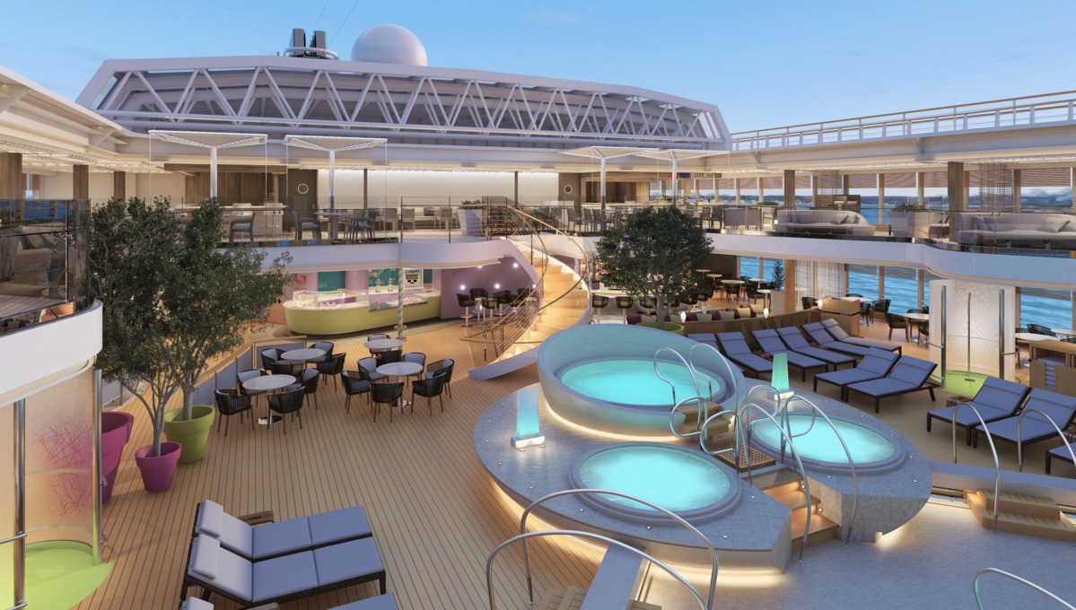 Holland America Line cruises - MS Koningsdam pool area