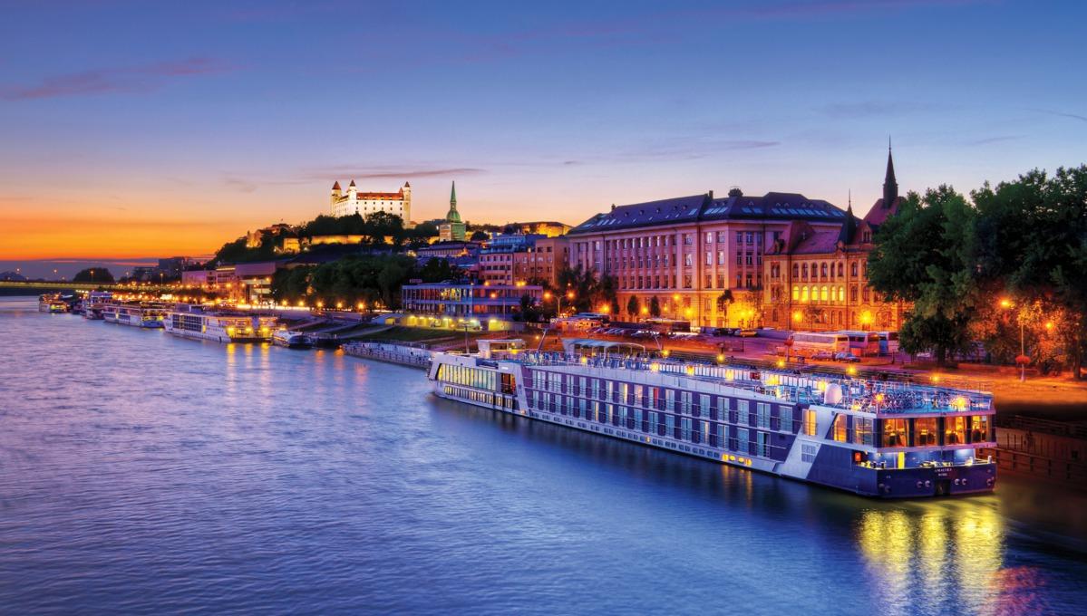 AmaWaterways - AmaLyra cruising in Bratislava, Slovakia