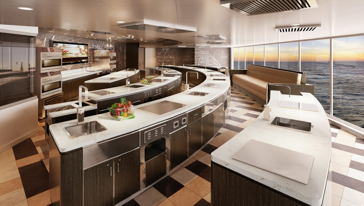 Regent Seven Seas Explorer - Culinary Arts Kitchen