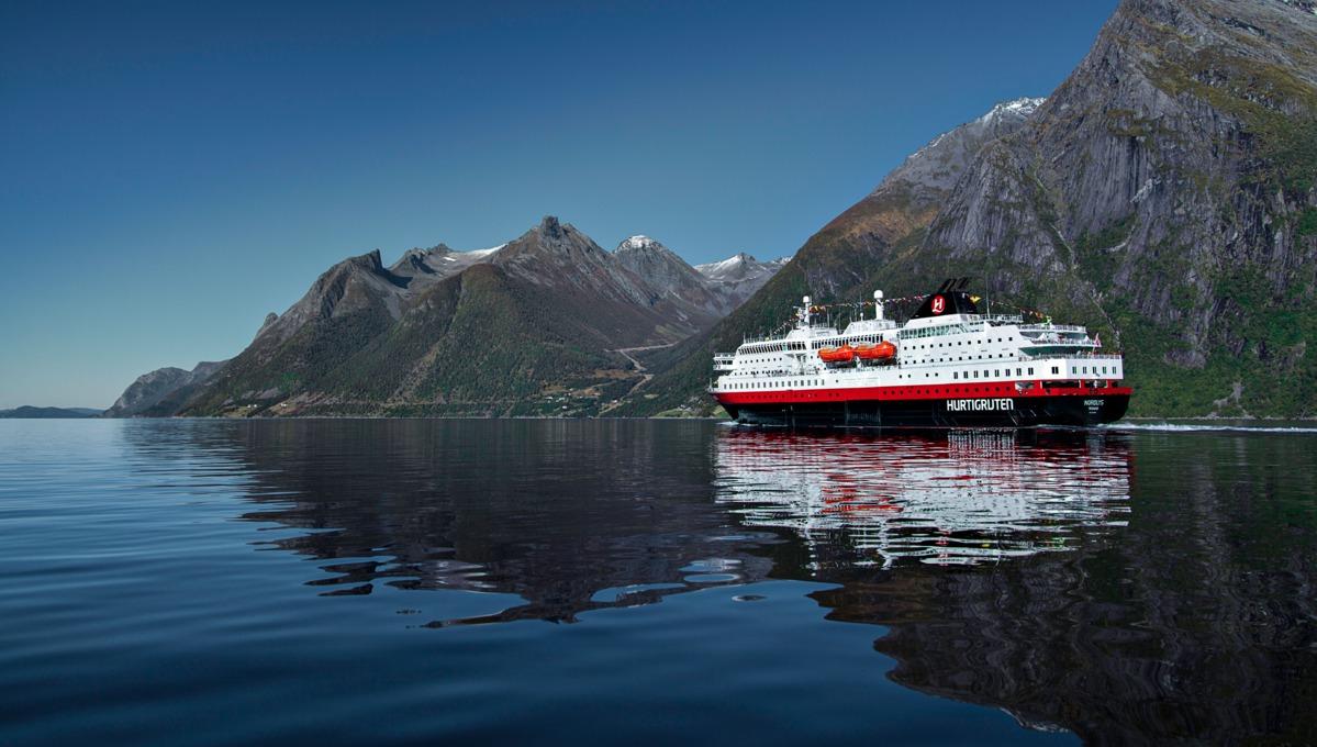Hurtigruten - MS Nordlys cruising the Norwegian Fjords