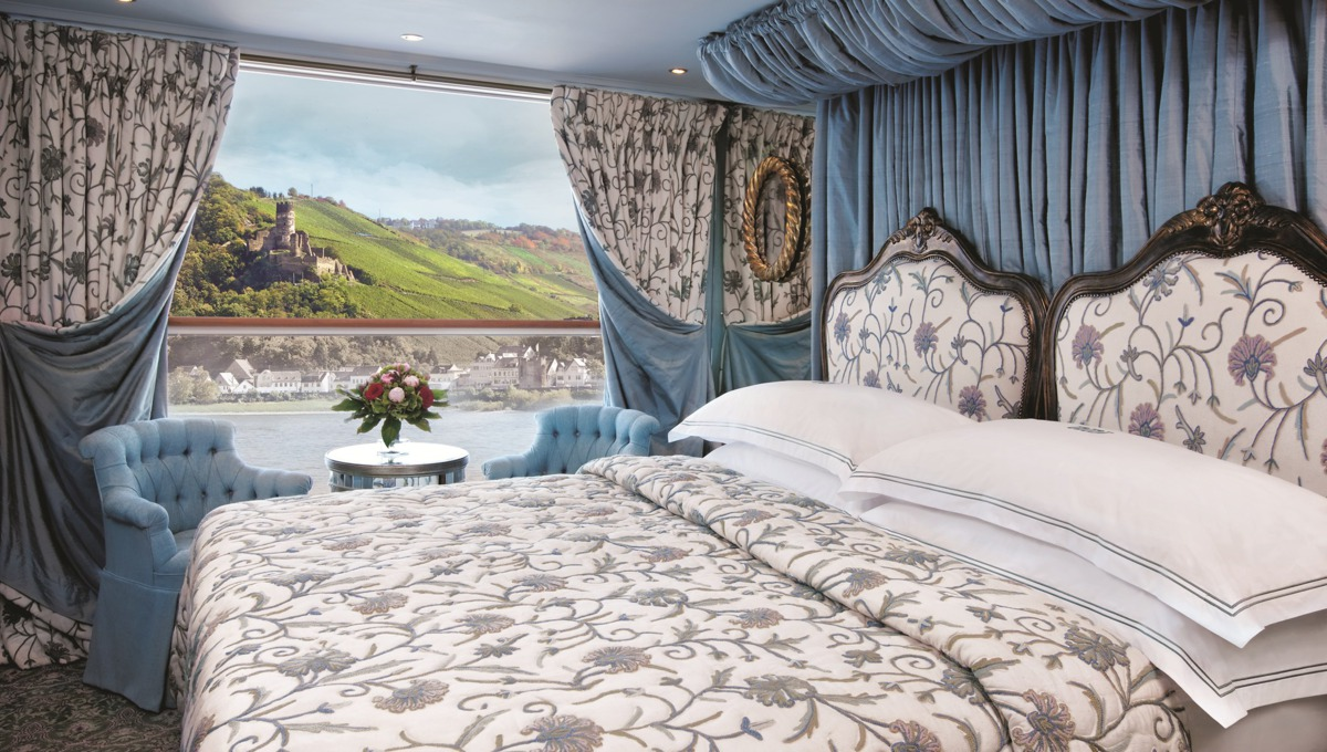 Suite on Uniworld's SS Antoinette, one of the best luxury river cruise lines