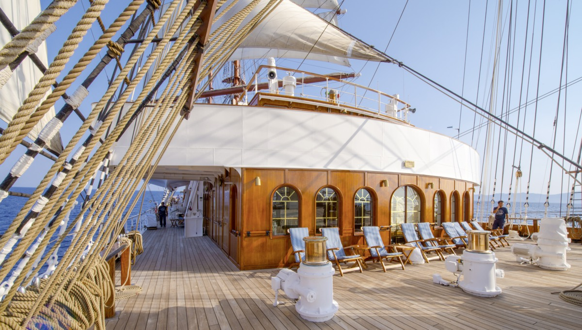 Sea Cloud II deck
