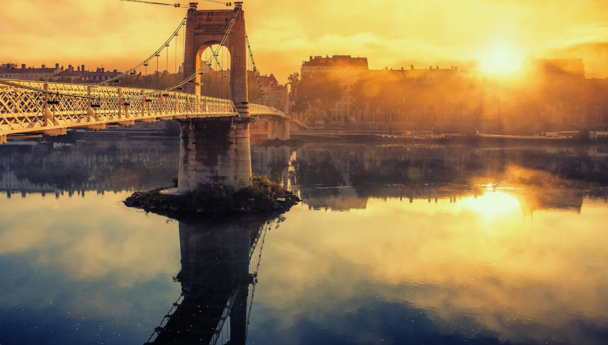 Rhone & Saone river cruises - Sunrise over Lyon, France