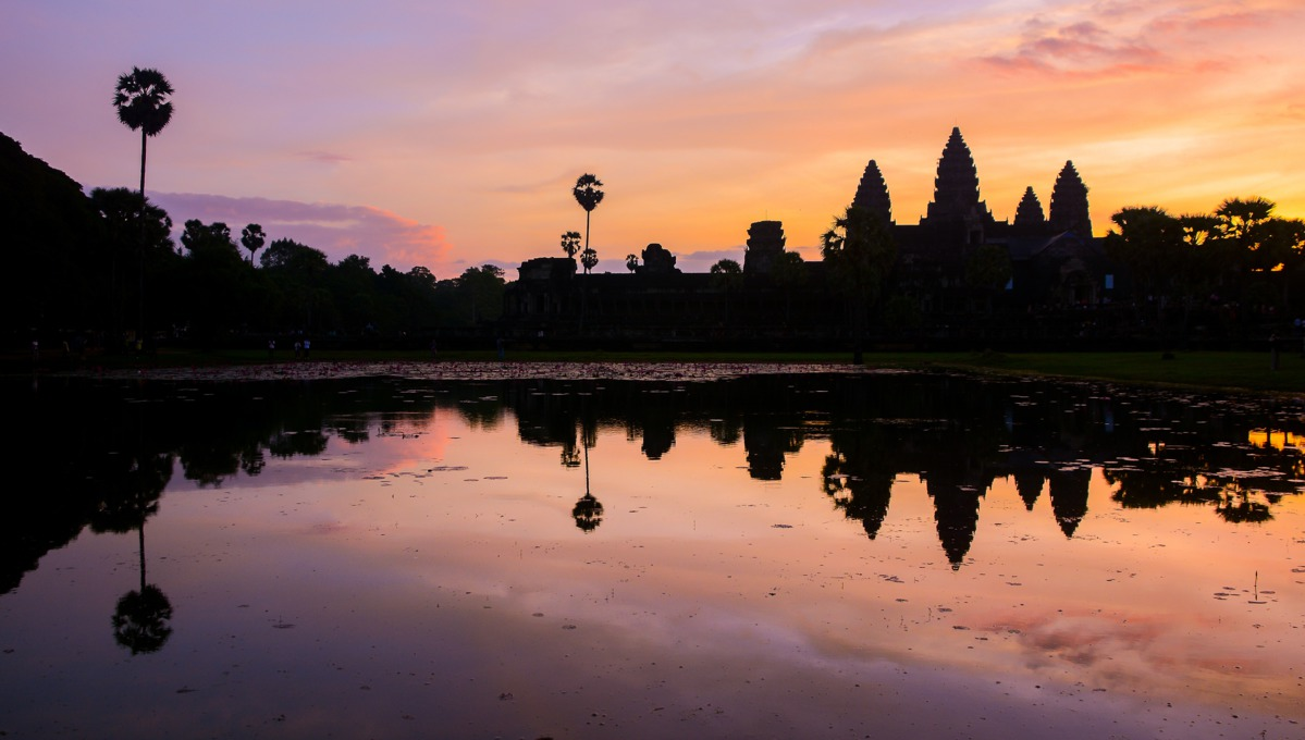Vietnam & Cambodia cruises - Sunrise over Angkor Wat