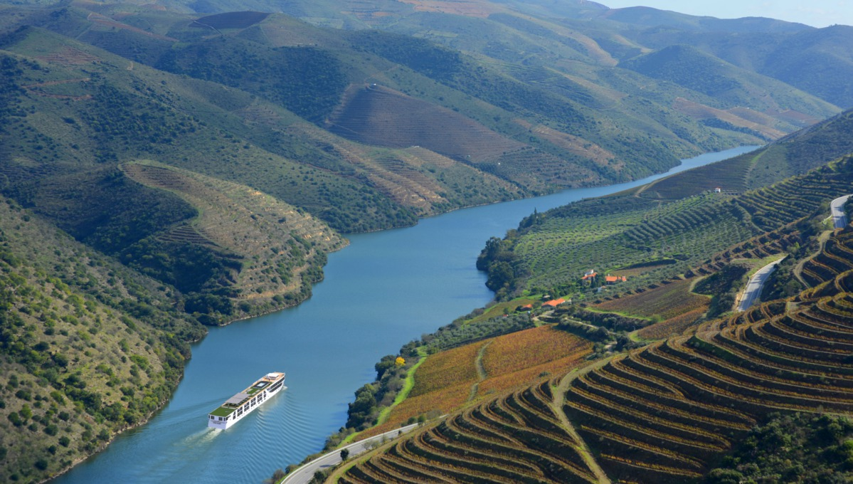 Scenic Azure on the Douro river