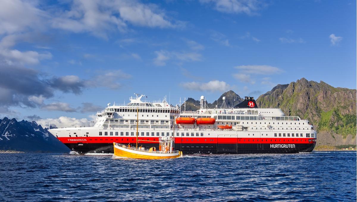 Hurtigruten - MS Finnmarken in the Lofoten Islands, Norway
