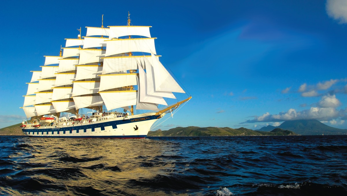 Royal Clipper, one of the world's best cruise ships with sails