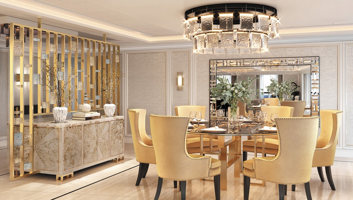 Regent Seven Seas Splendor - Regent Suite dining area