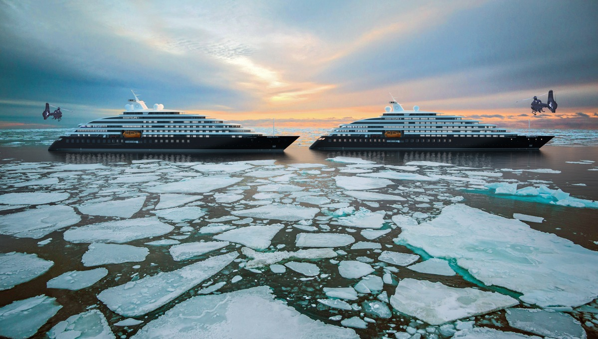 Artist's impression of Scenic Eclipse I and II in the Arctic