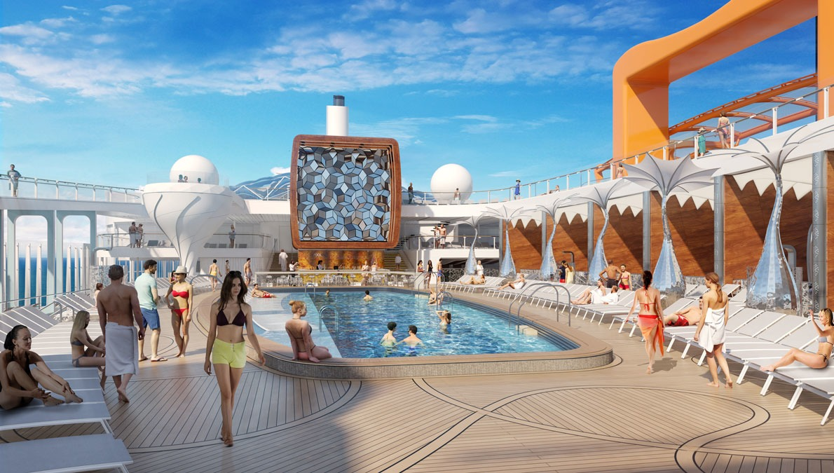 Celebrity Edge - Pool deck