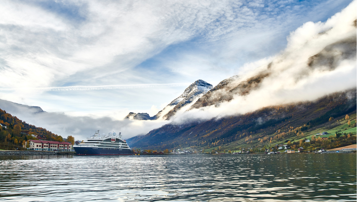 Ponant's Le Champlain, one of the best small ship cruise options in the Norwegian Fjords