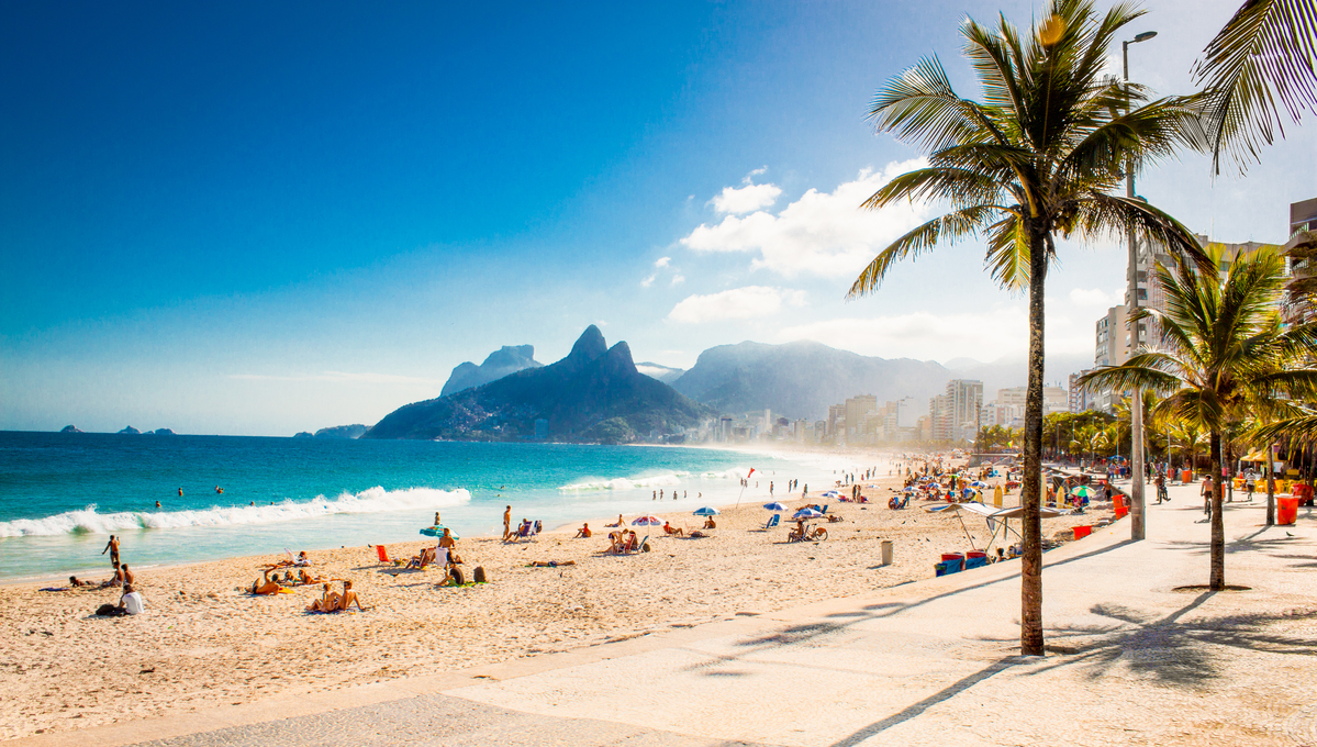 Rio's Ipanema Beach, a highlight of a Crystal cruise to South America